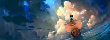 Anime One Piece Thousand Sunny Facebook Cover Photo