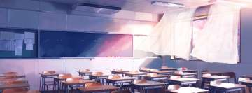Anime Original School Classroom Facebook cover photo