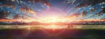Anime Original Sunset Walk Facebook Banner