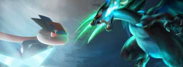 Anime Pokemon Ash Greninja vs Mega Charizard X