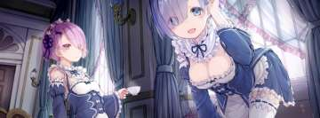 Anime Re Zero Starting Life in Another World Teatime at Bed Fb Cover