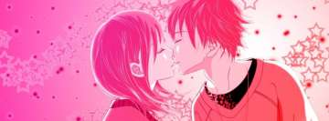 Anime Romantic Love Kiss Facebook Cover