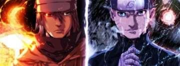 Anime Sasuke and Naruto Moon and Sun of Six Paths Facebook Cover