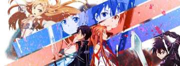 Anime Sword Art Online Kirito and Asuna Facebook cover photo