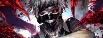 Anime Tokyo Ghoul Bloody Facebook Cover