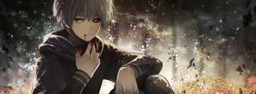 Anime Tokyo Ghoul Bloody Mouth Facebook Cover Photo