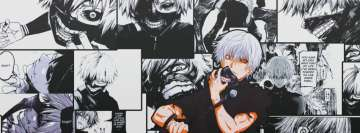 Anime Tokyo Ghoul Comic Style Facebook Background TimeLine Cover