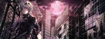 Anime Tokyo Ghoul Full Moon Facebook cover photo
