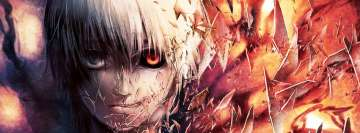 Anime Tokyo Ghoul Pieces Facebook cover photo