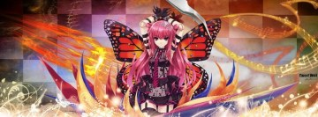 Anime Wings Girl Facebook cover photo