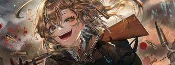 Anime Youjo Senki Blonde Tanya Degurechaff Facebook cover photo
