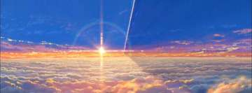 Anime Your Name Meteorite Facebook Wall Image
