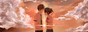 Anime Your Name Romance Facebook Cover-ups