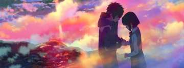 Anime Your Name Romantic Scene Facebook Background TimeLine Cover
