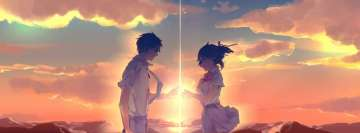Anime Your Name Romantic Touch Facebook Background
