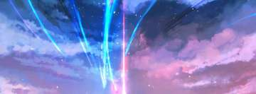 Anime Your Name Starfall Facebook Cover-ups