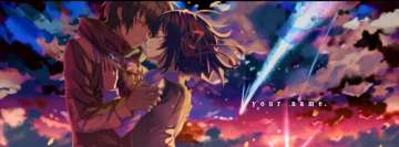Anime Your Name Taki and Mitsuha Romantic Facebook Cover Photo