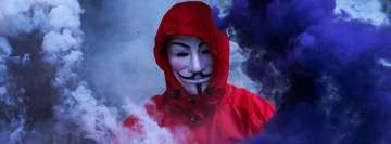 Anonymous in Smoke Facebook Wall Image