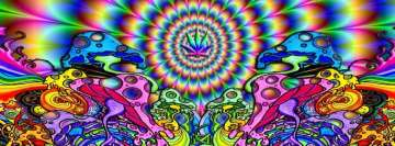Artistic Psychedelic Mushroomic Facebook Background