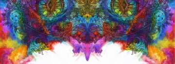 Artistic Psychedelic Painting Facebook Banner