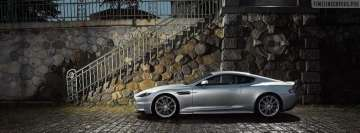 Aston Martin and Stairs Facebook Wall Image