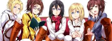 Attack on Titan Annie Leonhart Historia Reiss Mikasa Ackerman Sasha Blouse Facebook Cover-ups