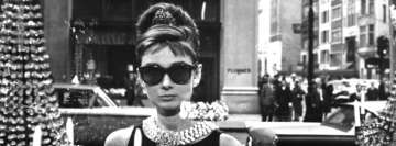 Audrey Hepburn Black and White Facebook Cover-ups