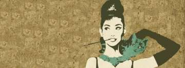 Audrey Hepburn Girly Facebook Cover
