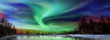 Aurora Borealis Swirl of Lights Facebook Background TimeLine Cover