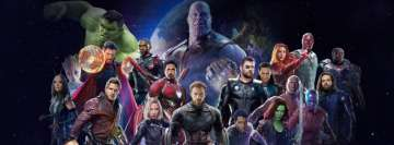 Avengers Infinity War 20 Heroes Facebook cover photo