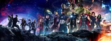 Avengers Infinity War All Characters Facebook Cover Photo