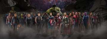 Avengers Infinity War Heroes Facebook cover photo