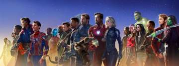 Avengers Infinity War Heroes Looking Left Facebook cover photo