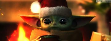 Baby Yoda Christmas Edition Facebook Cover