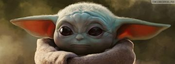 Baby Yoda Painting Facebook cover photo