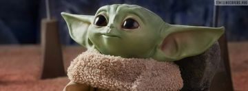 Baby Yoda Toy Facebook cover photo