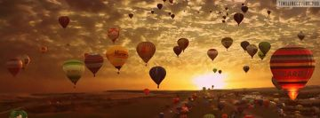Balloons Sunset View Facebook Banner