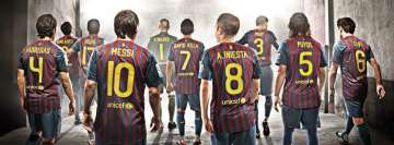 Barca FC Barcelona Team Facebook Cover