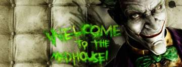 Batman Arkham Asylum Welcome to The Madhouse Facebook cover photo