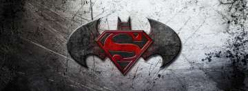 Batman vs Superman Metal Logo Facebook Wall Image