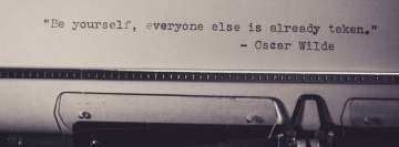 Be Yourself Oscar Wilde Quote Facebook Cover