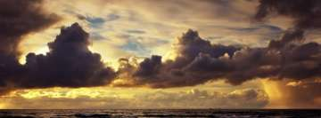 Beautiful Cloudy Sunset Over The Sea Fb Cover