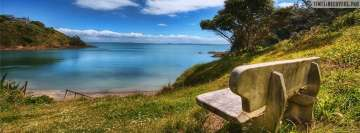 Bench at The Sea Facebook cover photo