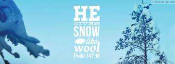 Bible Verses Snow Winter Psalm Christian Facebook Cover-ups
