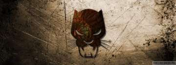 Black Panther Logo Art Facebook Wall Image