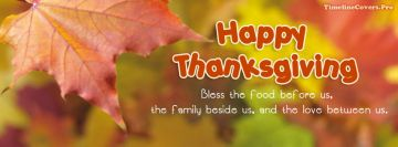 Bless Food Family Thanksgiving Facebook Wall Image