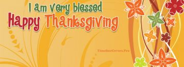 Blessed Happy Thanksgiving Facebook cover photo