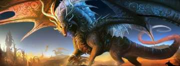 Blue Fantasy Dragon