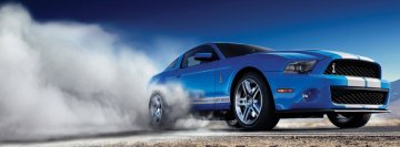 Blue Mustang Facebook Cover