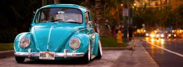 Blue Volkswagen Beetle Facebook Background TimeLine Cover
